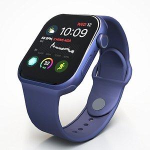 3D Blue Apple Watch Series 6 model