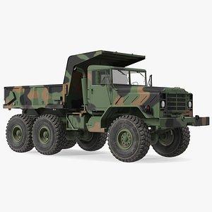 M939 Military Dump Truck Green 3D model