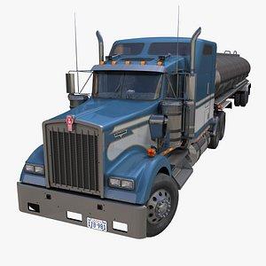 3D Kenworth W900 tanker trailer PBR