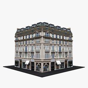3D model Typical Parisian Apartment Building 19