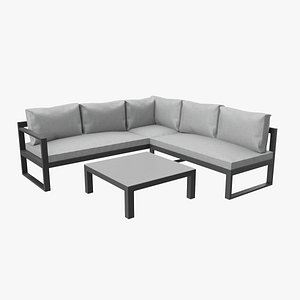 relaxing lounge 3D model