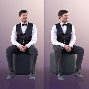 man suit bow 3D model