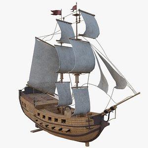 Sail Battleship 3D model