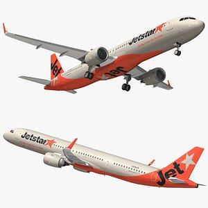 3D model airbus a321 jetstar