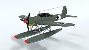 Low Poly Cartoon Arado Ar 196 3D model