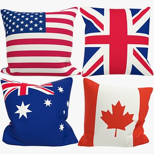 Flags Pillows Collection V1 3D model