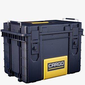 3D medium industrial crate contains model