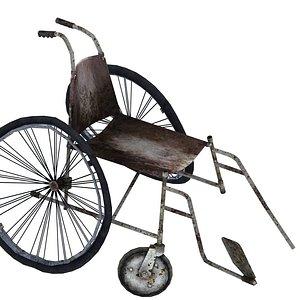 Wheelchair 01 03 3D model