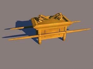 The sedan chair carries the sedan chair urn angel doll covenant ark cabinet wooden ark 3D model
