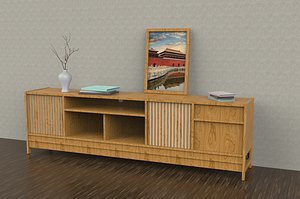 3D Modern contracted TV cabinet telescopic TV cabinet tea table combination Nordic coffee table set sol