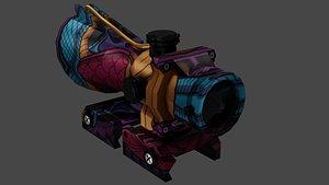 3D scope weapon 4x