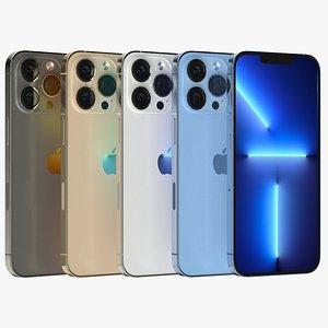 Apple iPhone 13 Pro Max All Colors 3D model