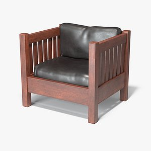 Slatted Cube Chair 3D