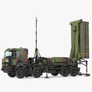 3D SAMP-T Air Defense Missile System Armed Position model