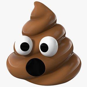 3D Open Mouth Poop Emoji Smile