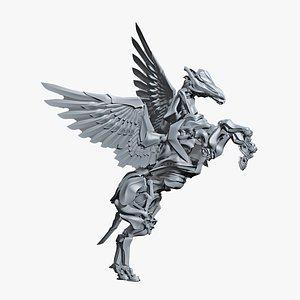 3D model iron pegasus 500 separated