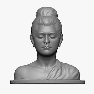 3D Gautama Buddha statue