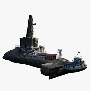 3D model thiruvalluvar statue
