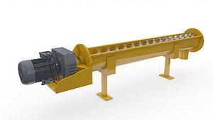 3D conveyor screw model