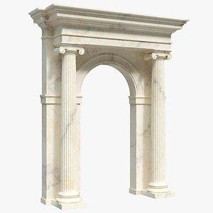 Classic Ionic Entrance 3D model