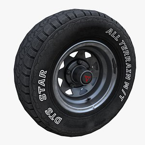 Off Road wheel PBR Low-poly 3D