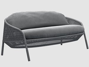 3D ahnda sofa graphite dedon model