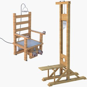 3D Guillotine and Electric Chair model