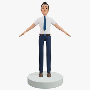Cartoon Man Rigged 3D model