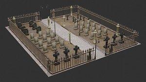 3D Graveyard-Cemetery model