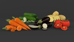 3D Vegetable Collection model