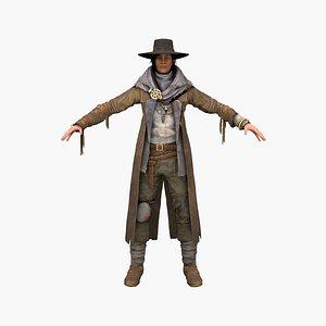 3D model sheriff woman