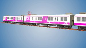 mumbai bombardier emu local 3D model