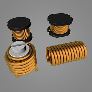 3D inductor rod core