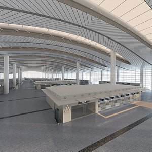 3D Airport Terminal Design model