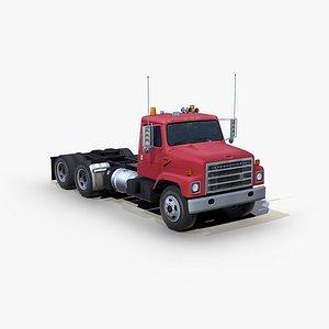 International 1754 semi truck 3D