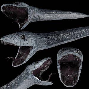 black mamba snake 3D