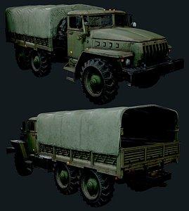 3D model ural 4320