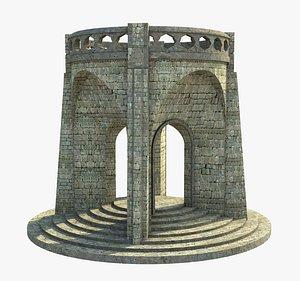 3D gazebo structure architecture model
