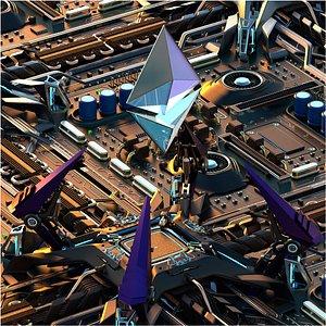 Ethereum - NFT Rig 3D model