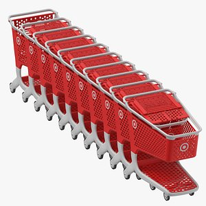 3D model plastic shopping carts 01