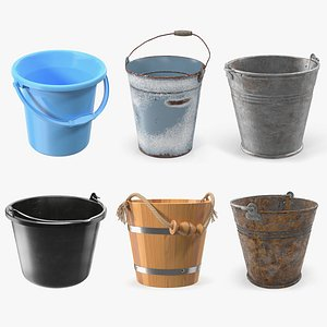 Buckets Collection 4 3D model