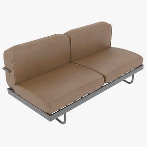 sofa le corbusier cassina 3D
