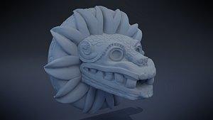 3D Quetzalcoatl - Aztec Deity model