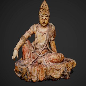 3D model Statue of Guanyin Bodhisattva in Dunhuang