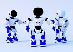 Small robot Intelligent robot AI robot Cute robot Cartoon robot White robot Modern robot IP Future r 3D model