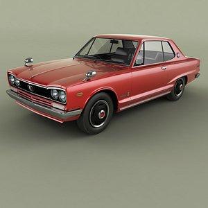 3D Nissan Skyline 2000GT coupe KGC10 model