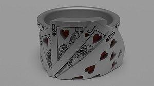 Flush Royal Poker Ring 3D model
