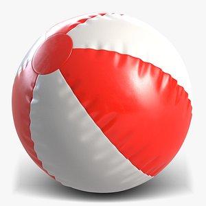 3d model beach ball beachball