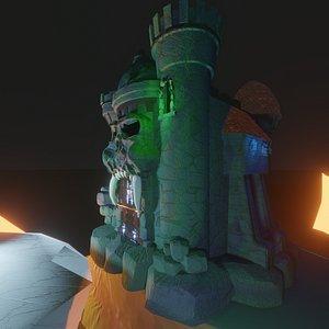 3D model castle grayskull