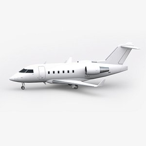 3D Low-Poly Bombardier Challenger CL604